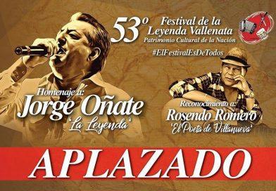 Alcalde de Valledupar confirma aplazamiento del Festival Vallenato 2020