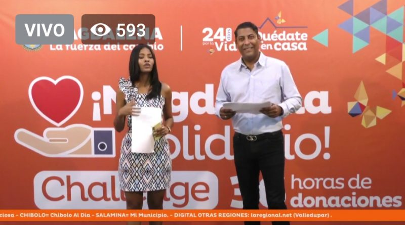 Con donatón de 36 horas #MagdalenaSolidario, gobernador Caicedo invita a a ayudar a los más humildes del departamento