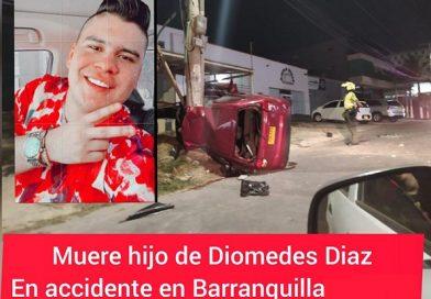 Murió hijo de Diomedes Diaz en accidente en Barranquilla