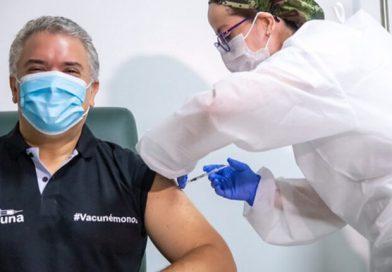 Presidente Duque recibió la primera dosis de la vacuna contra el Covid-19
